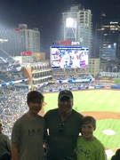 Petco Park with the family, July 2019