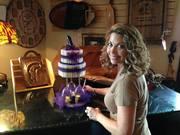 Purple Themed Cake