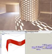 Light in the fold - Parametric brick wall