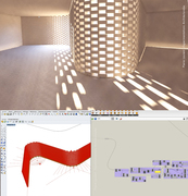 Light in the fold - Parametric brick wall - 01