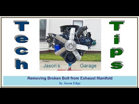 From Jason's Garage - Drilling Out Broken Exhaust Manifold Bolt