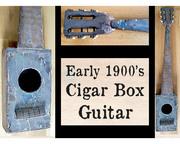- Antique Cigar Box Guitar -