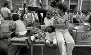 1981 - Pan side taking a break. - Notting Hill Carnival