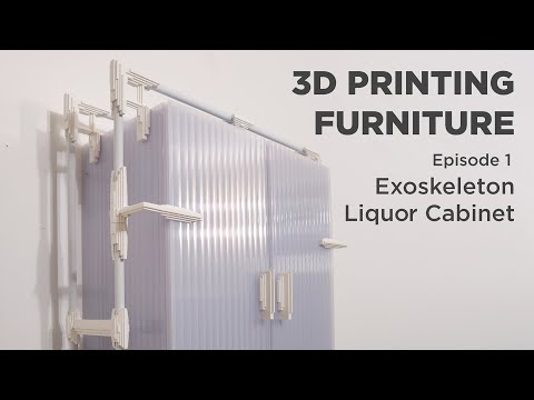 3D Printing a Liquor Cabinet | 3D PRINTED FURNITURE EP 1