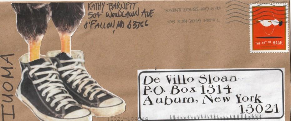 Mail art by Kathy Barnett (O Fallon, Missouri, USA)