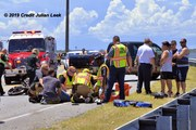 Health First Trauma Center and First Flight Air Medical Transport respond to MVC