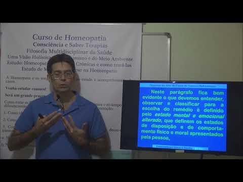 Gelson - Homeopatia 16 - Organon §212 - 1ª Lei de Similitude