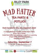 Mad Hatter Tea Party with Garden Inspired Teas!