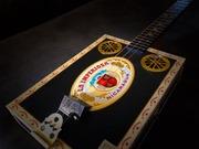 New Black & Gold Cigar Box Guitar