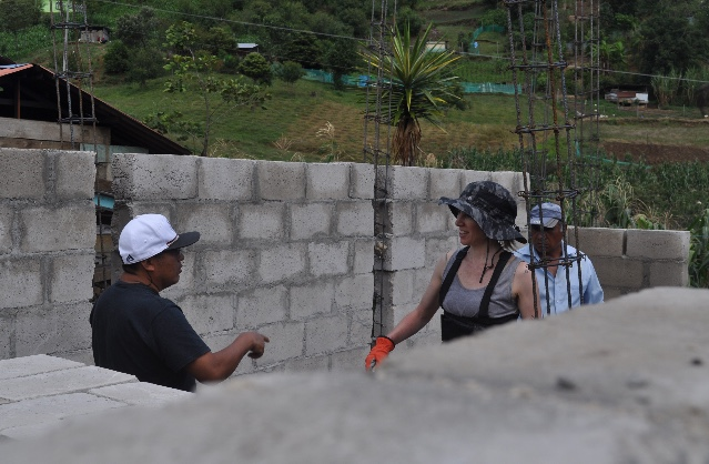Chatting with Paco when we were working on the building site in Chiapas