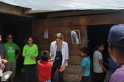 The children at the house I was helping to build for Mexico Habitat for Humanity project