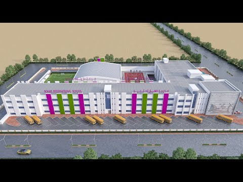 3D Architectural Animation Services for Sohar International School