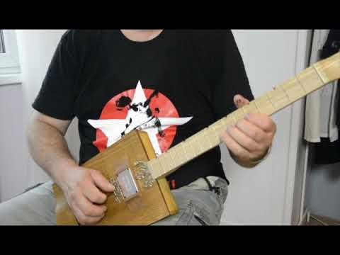 Miku cigar box guitar - Stella by starlight