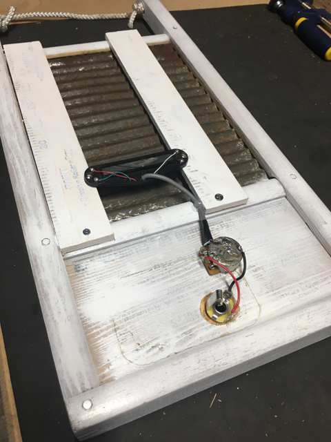 Made some progress on the electric washboard