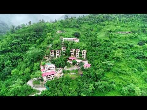 View from the Sky of Veda5, The Luxury Ayurveda, Panchakarma & Yoga Retreat in Rishikesh, India