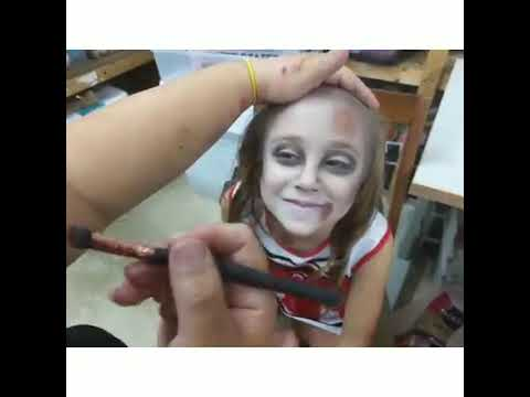 Girls Creepy Zombie Cheerleader Halloween Costume