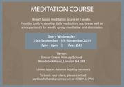 Meditation Course Starts