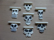 Carved bone skull bridges