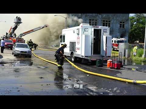 Camden, New Jersey Three-Alarm Fire