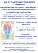 Cours d'astrologie débutant - Rueil Malmaison