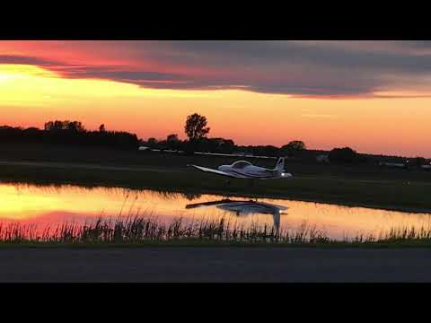 Evening takeoff in a Zenith CH 601