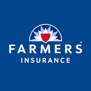Farmers White Logo on Blue Bckgrd
