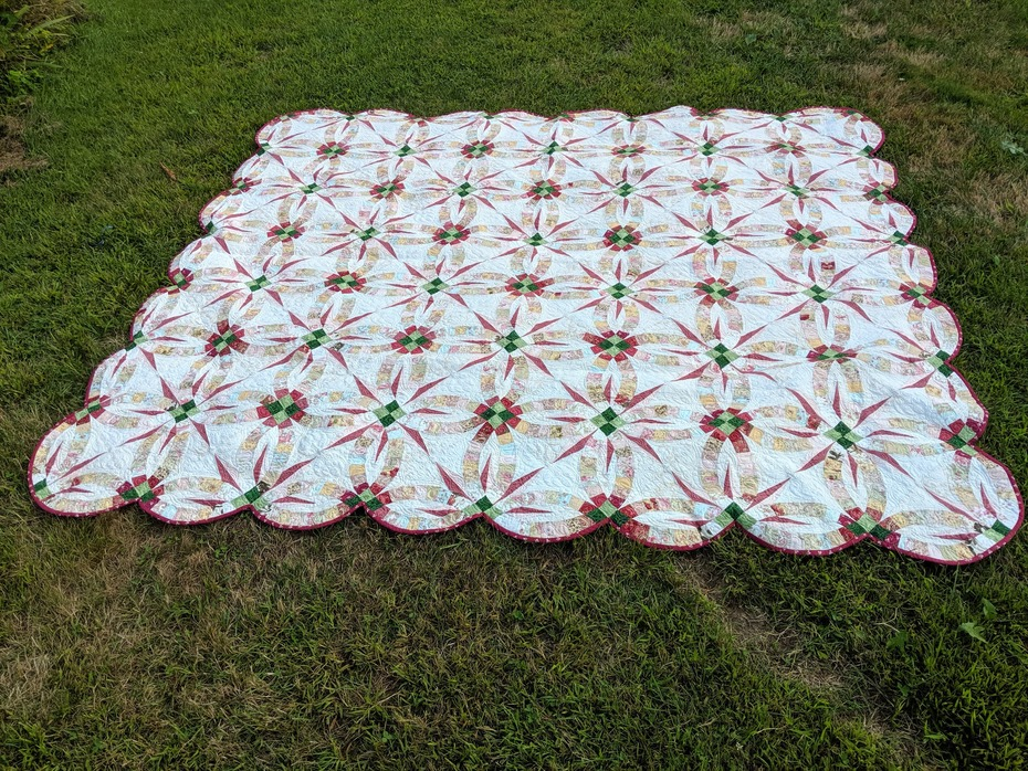 Wedding Star Whole Quilt