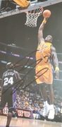 Close up of Shaquille O'Neal signed photo