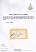 Tracks UK COA For Ringo Starr Autograph 1963/4