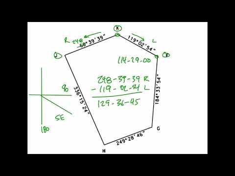 Interior Angle Computations -Azimuths