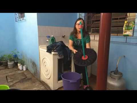 Lavando Minha Calça Jeans Na Máquina Caseira
