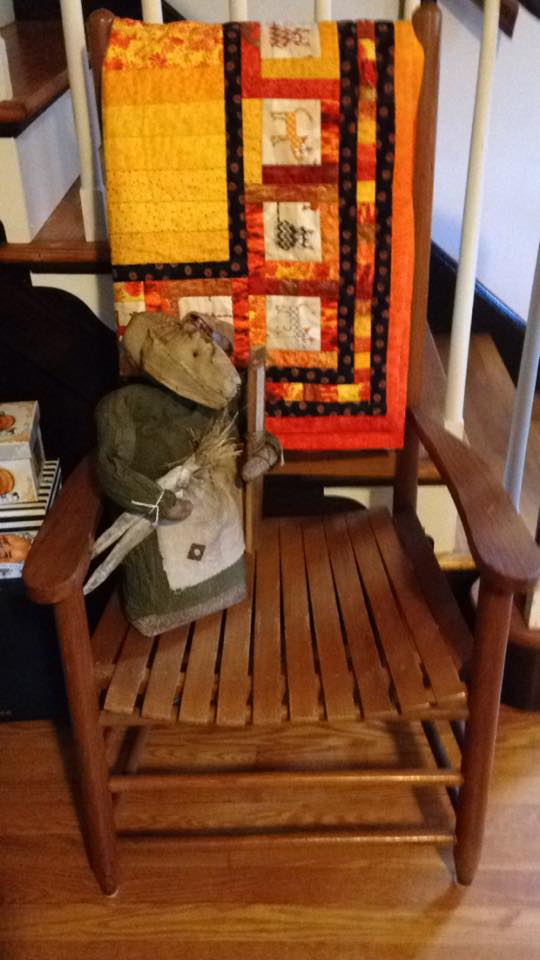 where Quilt #162 - Marmalade hangs out in my house