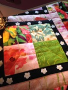 Quilt #158 - Garden Window block quilted
