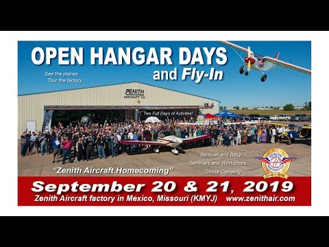 Preview: Zenith Aircraft Homecoming: September 20 & 21, 2019