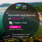 Back water and beaches in kerala - Kerala Tour Packages