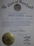 Agape 1 State of MD Citation