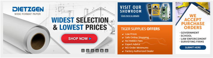Current Tiger Supply Deals for Land Surveyors