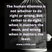 The dilemma is...