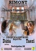 Concert de dana ( the voice ) et taezi en duo harpe/voix à rimont