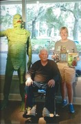 Ricou Browning and the re-created 1954 Creature From the Black Lagoon suit. Sept. 14, 2019