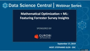 DSC Webinar Series: Mathematical Optimization + ML: Featuring Forrester Survey Insights