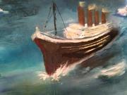 le titanic 70x60 huile de sylviane tirez