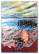 Low Tide - Mixed Media on paper - 22x30
