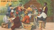 - Antique cigar box guitar Lithograph -