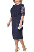 Lace-Plus-Size-Mother-Of-The-Bride-Dresses-2019-Scoop-Neck-Hal-Sleeve-Patchwork-Wedding-Guest_2