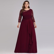 Bride-Mother-Dress-Plus-Size-Evening-Party-Gowns-2019-Elegant-Lace-A-line-Chiffon-Long-Sleeve_1