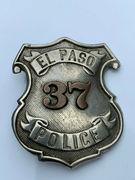 El Paso Police badge - ca 1920s