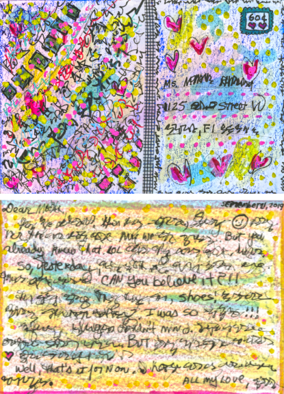 First effort at Asemic Mail Art