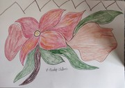 beautuful flower with two leaves