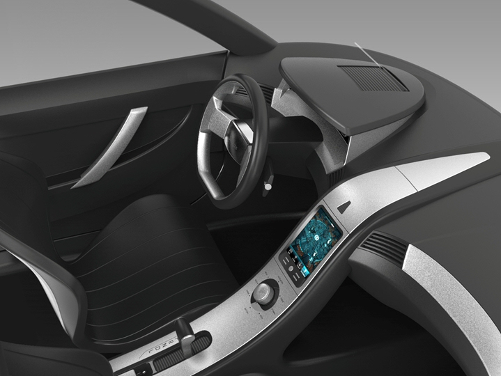 Vehicle Interior with HUD